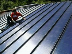 Next time you need to replace your roof, remember that metal roofs are permanent, and solar roofs save energy costs. Roofing Options, Roofing Systems, Roofing Materials, Solar Energy System, Solar Power, Wind Power, Green Roof System, Solar Roof Tiles, Best Solar Panels