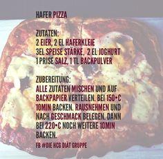 Hafer-Pizza #hcgdiät