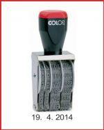 nesamobarvící datumová razítka s gumovými oběžnými pásky, jejichž posouvání se nastavuje datum, http://www.razitka-praha.eu/?paskova-datumova-razitka-praha,55 - otisk datumu má formát den/měsíc/rok