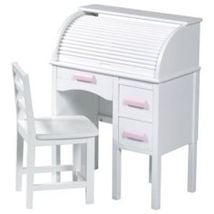 Guidecraft Junior Roll Top Desk White - G97301, Durable