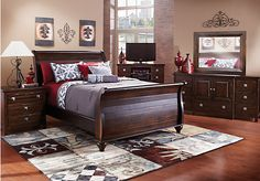 Summer Grove 5 Pc Queen Bedroom at Rooms To Go. Find Bedroom Sets that will look great in your home and complement the rest of your furniture.  #roomstogo