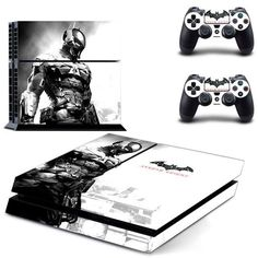 BATMAN Arkham Knight Ps4 Skin Decal Vinyl Sticker Cover For Playstation 4 Console and Two Controllers Skin