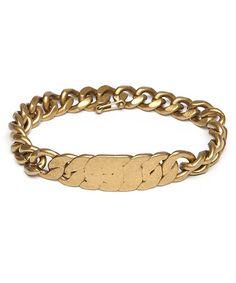 MARC JACOBS マークジェイコブス Flat Chain Bracelet ブレスレット GOLD