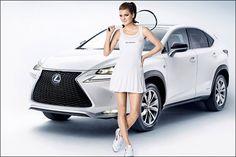 Agnieszka Radwanska for her sponsor #Lexus