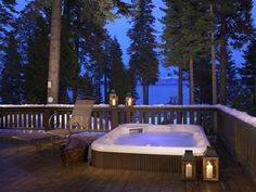 Hot Tub Deck Design Ideas, Pictures, Remodel, and Decor - page 8 Jacuzzi, Hot Tub Backyard, Backyard Patio, Wedding Backyard, Backyard Ideas, Cabin Hot Tub, Porches, Whirlpool Deck, Diy Balkon