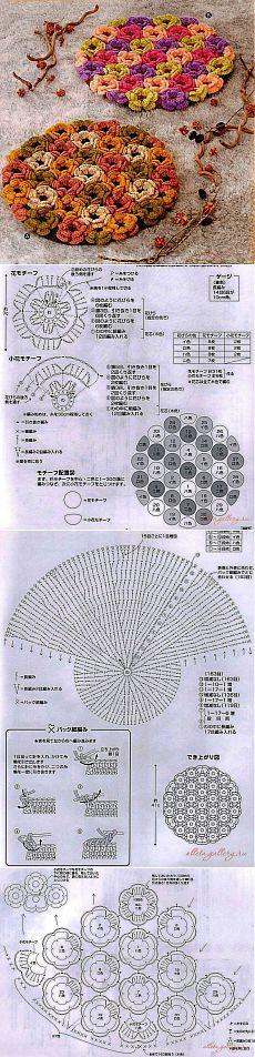 Вязание крючком ковриков.Ввязание крючком круглые коврики | Лаборатория домашнего хозяйства