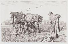Three Good Friends by Stanley Anderson (British 1884-1966)