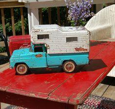 Vintage Pressed Steel Tonka Truck Camper by BlackEyedSusanShop