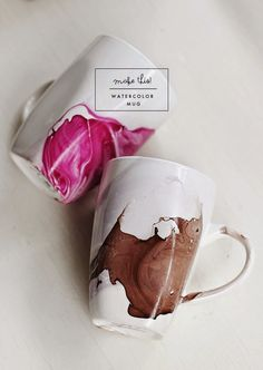 Poppytalk: DIY | Watercolor Mug