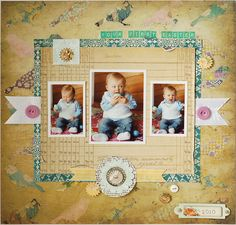 Your First Easter 12x12 layout by Valerie, LBD Design Team Member, using the January 2012 kit from LBD Kit Club.