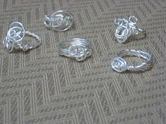 Sterling silver free form rings