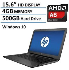 HP Pavilion 15 15.6-Inch Laptop (AMD Quad-Core A6-5200 , ...