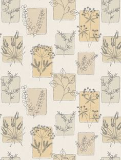 Herbes Coronation (0271HRCORON), a feature wallpaper from Little Greene, featured in the 50s Line Papers collection.