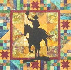 horse quilt patterns - looks like the one I made about 14 years ago for my grandson!