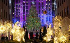 Si accendono le luci al Rockefeller albero di #Natale #NY 2013
