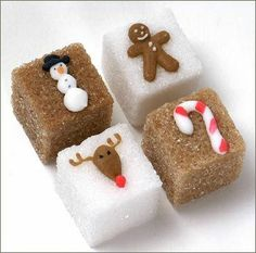 christmas sugar cubes