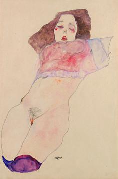 """sugarbrass:  Egon Schiele - """"mädchen unterleib"""""""