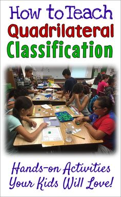 Teach your students how to classify tricky quadrilaterals using the hands-on lessons, activities, and games in Classify It! This ready-to-use resource from Laura Candler includes a lesson, a sorting activity, a challenging (but fun!) math game, and two quizzes that will help your students master quadrilateral classification! Teaching 5th Grade, 5th Grade Math, Teaching Math, Teaching Resources, Third Grade, Teaching Ideas, Elementary School Counseling, Elementary Teaching, Upper Elementary