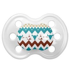 Native American Turquoise Red Chevron Tipi Skulls Baby Pacifiers