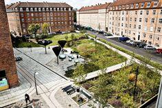 GHB Landskabsarkitekter - Taasinge Square - a green and sustainable landmark - handling of rainwater