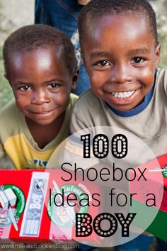 100 Shoebox Ideas for a Boy: Operation Christmas Child.... I've taken my grandkids with me to 'help' pick out things that the boys or girls would like, and it creates a lesson on humility!