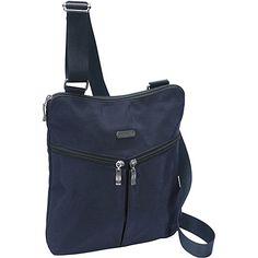 baggallini Horizon Crossbody Navy/Leaf Green - baggallini Fabric Handbags