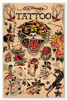 Ed Hardy Collage Poster Art Print