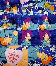 U leave me breathless. Futurama quote. Love this episode.