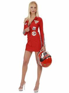 Vestido rojo de piloto para mujer   Comprar online