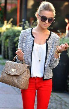 Tweed Grey White Black Jacket