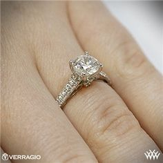 Verragio Double Pave Diamond Engagement Ring