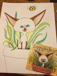 For Pin the Mask on Skippyjon game: Drawn on oaktag