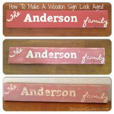 52 Weeks of Pinterest: Week 9   Make A Wooden Sign Look Aged! Photo