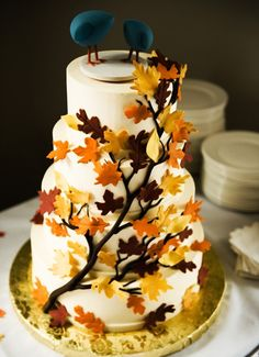 2013 autumn #wedding #cake