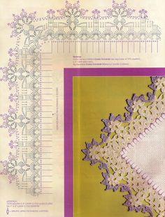 CROCHE WITH RECIPE: Barred in soft lilac crochet
