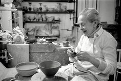 A Portrait of Studio Ceramics - Crafts Council. Lucie Rie in her studio