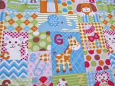 Flannel-Fabric-Baby-Big-Patchwork-Multi-Color-100-Cotton-General-Sewing