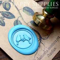 Buy 3 and Get 1 FREE - 1pcs Couple Birds Gold Plated Wax Seal Stamp (WS068)