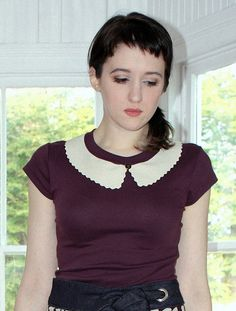 Summer Fashion Sale The Peggy top  aubergine t shirt by larkstyle, $28.00