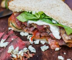 Steak & Blue Cheese Sandwich