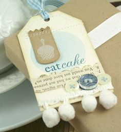 Eat Cake Tag by Nicole Heady from Papertrey Ink  Fun design!