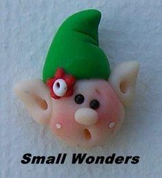 Little Elfpolymer clay bead hair bow center or by Smallwondersclay