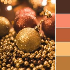What colors better describe holiday season than warm brown and gold tones? This color palette will warm you right up this cold winter season. House Color Palettes, Gold Color Palettes, Gold Color Scheme, Gold Palette, Living Room Yellow And Brown, Brown Color Schemes, Gold Rooms, Color Dorado, Diy Décoration