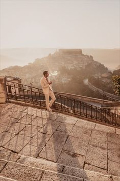 Our beloved Marco Pauletto in his ARISTOTELI BITSIANI ecru outfit while in Ragusa Ibla.