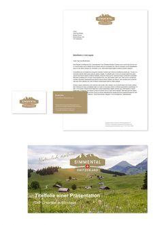 in flagranti design: Simmental Switzerland Bildwelt Corporate Design, Branding Design, Switzerland, Pictures, Brand Design, Identity Branding