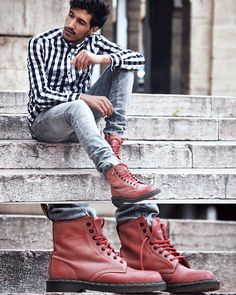 Dr Marten boots. i really love this look and would wear this exactly as photographed