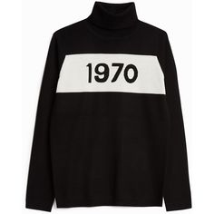 Bella Freud 1970' Polo Jumper (€150) ❤ liked on Polyvore featuring tops, sweaters, turtle neck sweater, polo tops, intarsia sweater, polo turtleneck and polo jumper