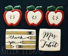 Thank you cookies for the teacher by Killer Zebras.