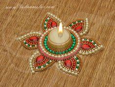 Diya kundan rangoli candle holder tealight candle Buy Now Rangoli Ideas, Rangoli Kolam Designs, Kolam Rangoli, Buy Candles, Tea Light Candles, Tea Lights, Beautiful Flower Designs, Beautiful Flowers, Diya Decoration Ideas