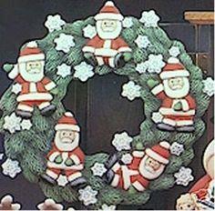 Ready to Paint Ceramic Bisque  Christmas Santa Wreath